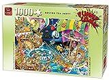 King 5222 Funny Comics Boston Tea Party Jigsaw Puzzle 1000 Piezas, 49 x 68 cm