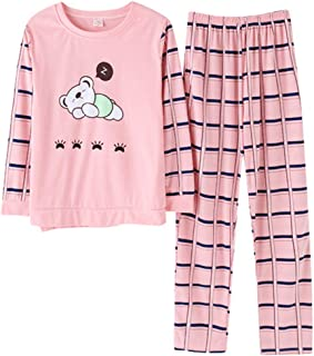 Mini kitten Abito da Donna in Seta con Ampie Maniche a Kimono e Fantasia a Fantasia//Pigiameria Morbida e Confortevole
