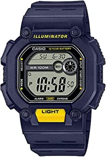 CASIO Youth Resin Band Digital Watch for Men - Navy