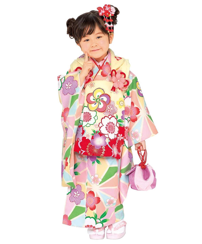 [和がまま] 七五三 女の子 3歳 被布 着物9点セットm301