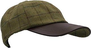 Walker & Hawkes - Uni-Sex Derby Tweed Baseball Cap Leather Peak Hunting Shooting Countrywear Hat - One-Size