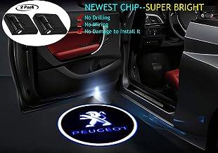 2 luces LED inalámbricas para puerta de coche con emblemas de fantasma para puerta de coche, luz láser de bienvenida …