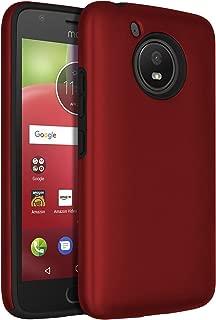 Moto E4 Case,SENON Slim-fit Shockproof Anti-Scratch Anti-Fingerprint Protective Case Cover For Motorola Moto E4 / Moto E 4th Generation,Red