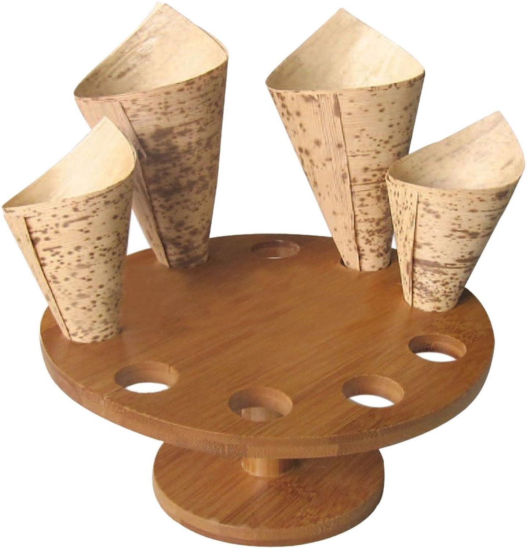 muchas sorpresas Packnwood cono cono cono de madera y Temaki pantalla, 10agujeros, 7cm de diámetro x 3,5 funda de alta (de 2)  directo de fábrica
