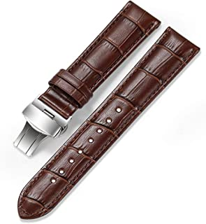 Calfskin Watch Band Geniune Calf Leather Watch Strap Replacement 18mm 19mm 20mm 21mm 22mm Strap Watchband Button Deployment Buckle