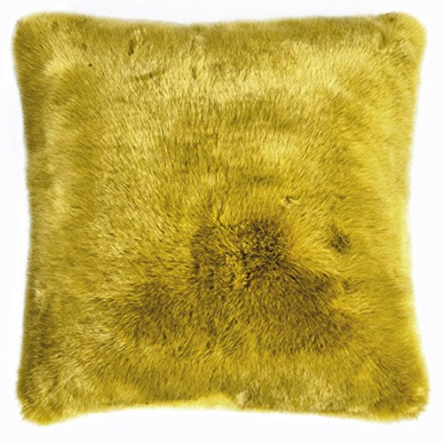 Pad - Kissenhülle - Kissenbezug - SHERIDAN - Kunstfell - mustard / gelb - 45 x 45 cm
