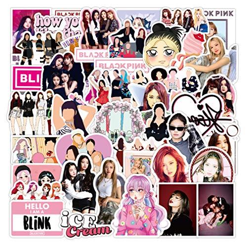 BAIMENG Girly Cute Pegatinas Japón Y Corea Del Sur Estrellas Pegatinas De Equipaje Portátil Decoración Teléfono Móvil Impermeable Taza De Agua Pegatinas 50 Hojas