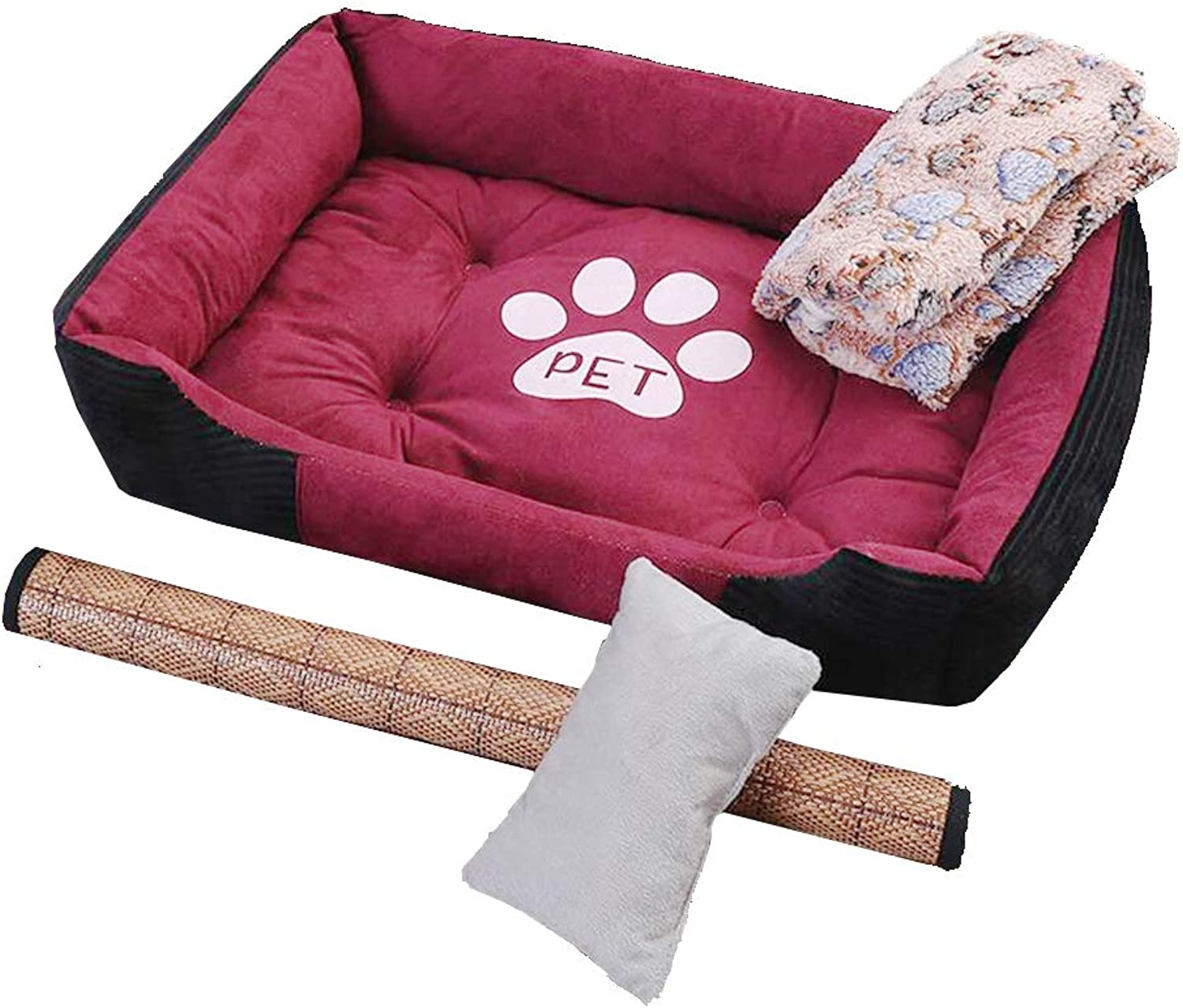 90  70Cm, Dog Pet Mat, Large and MediumSized Summer Nest, Small Dog Four Seasons Universal Kennel (Red) @ Y.T