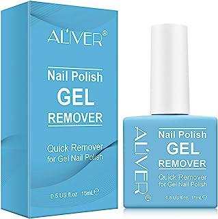 Nail Polish Remover, Easily & Quickly Removes Soak-Off Gel Polish, Don't Hurt Nails, Professional Non-Irritating Nail Polish Remover-15m