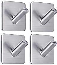 Adhesive Hooks Wall Hangers Hooks Stick on Hooks for Hanging Heavy Duty Towel Holder-Bathroom Home Kitchen Office -4 Packs