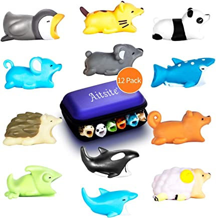 Aitsite Animals Cable Protector Prime Muticolor Cable Cord Accessory for All Mobile Phone (8-Piece)
