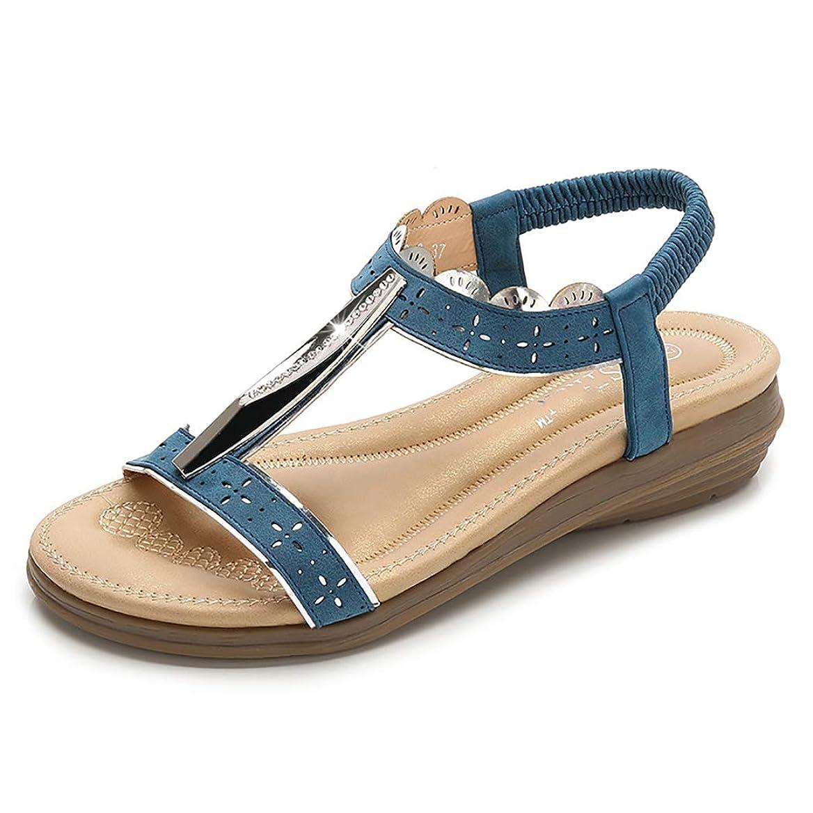 気づく有害あえぎ夏の靴女性サンダルフリップフロップ、カラフルなダイヤモンドの装飾快適なアンチスリップソフトボトムフラット女性スリッパサンダルTストラップサンダル