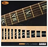 Fretboard Markers Inlay Stickers Decals for Guitars & Bass - Roman Numeral Blocks - Black Pearl