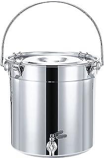 Marmite, 201 seau à soupe en acier inoxydable/seau scellé/seau de transport, bidon de vin avec robinet, pour seau de stock...