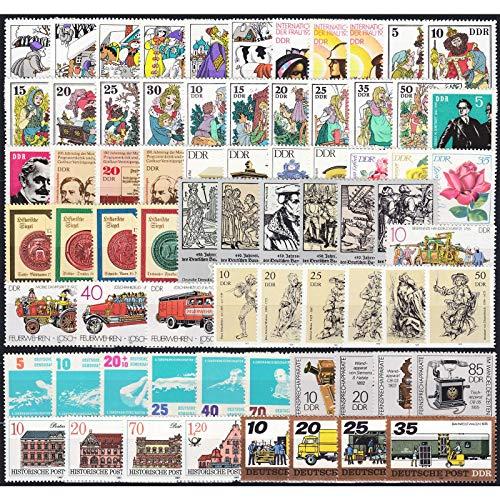 Goldhahn DDR 71 Werte postfrisch ** aus Zusammendrucken/Kleinbogen Briefmarken für Sammler