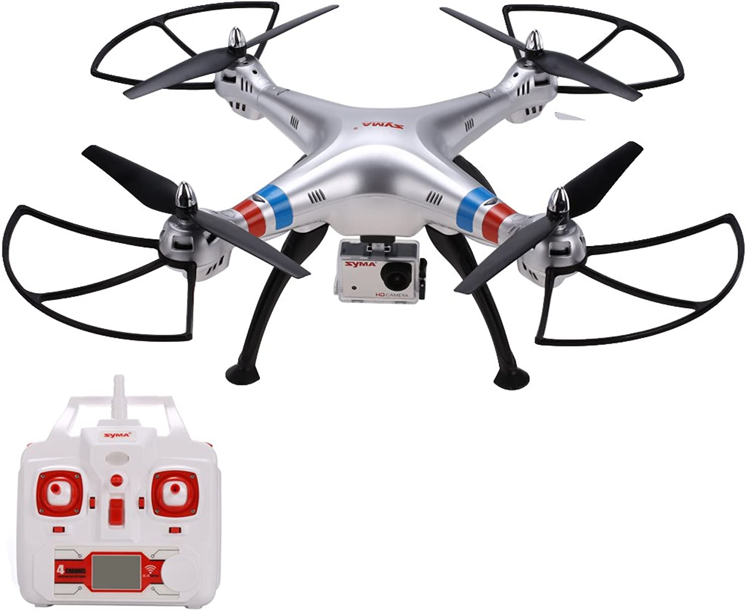 orden en línea Arshiner Syma X8G X8G X8G RC Quadcopter 2.4G 4CH 6-Axis 8MP Wirojo HD caméra Headless Mode avec Batterie de 7.4V 2000MAH  almacén al por mayor