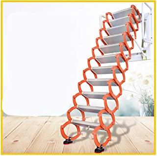 Sponsored Ad - Aluminum Alloy Household Retractable Ladder for Loft Home Folding Step Ladder Attic pulldown Ladder Hinge (...