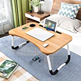 Laptop Desk Bed Table Tray, Lap Desk Bed Table for Breakfast Serving Tray