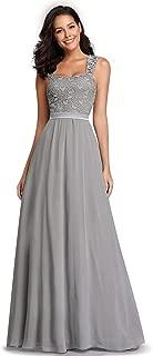 Women's A-Line Floral Lace Bridesmaid Dress Prom Party Dress 7704