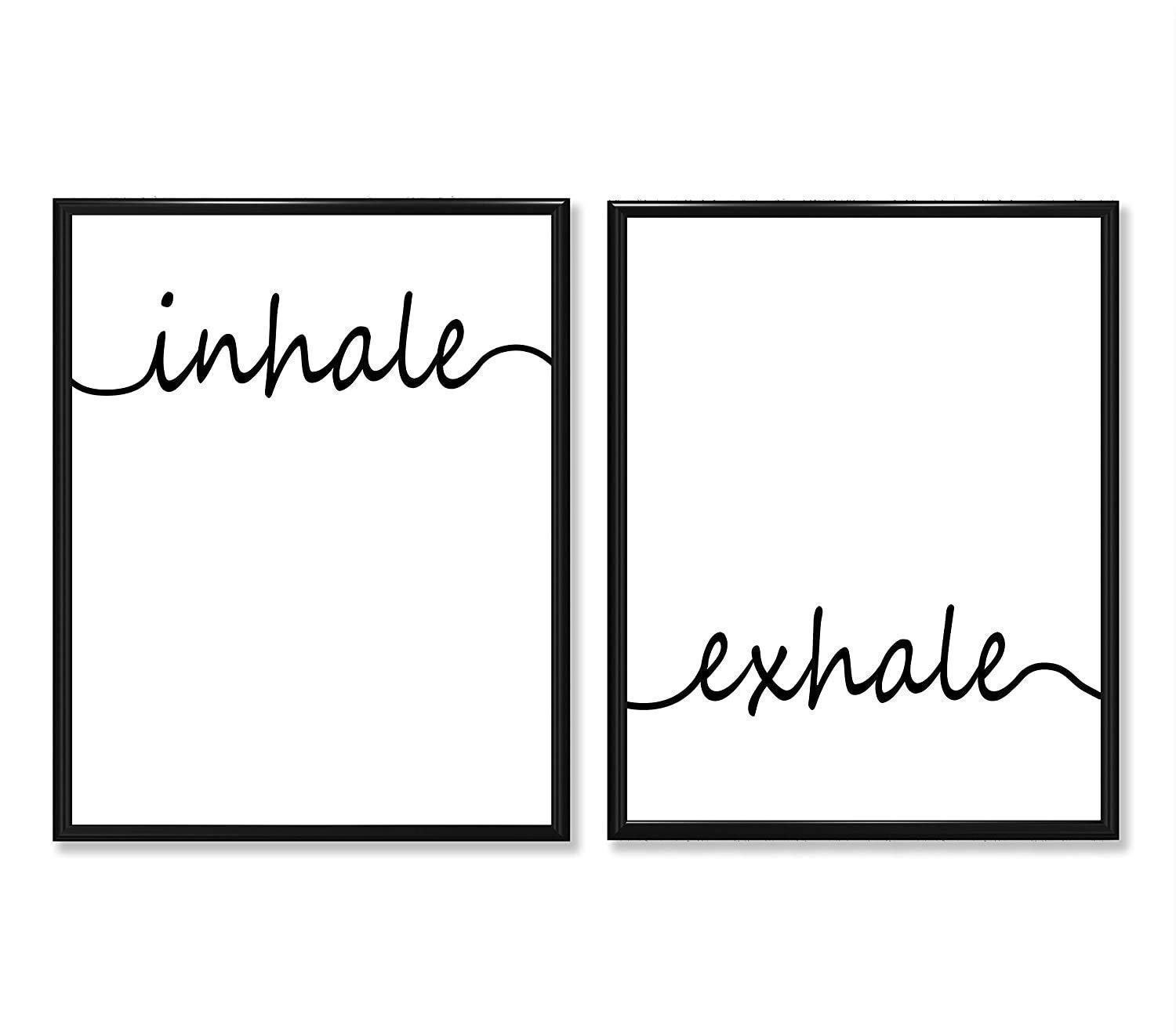 Inhale Exhale - Max shopping 63% OFF Set of Two and Black White Prints Unframed 11x14