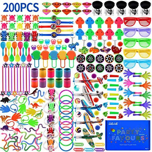 Juguetes de Relleno para Bolsos de Fiesta Surtidos, premios de Carnaval, 200 Piezas de recompensas en el Aula Escolar, Rellenos de piñata o Fiesta de cumpleaños para niños