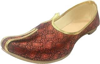 Step n Style Mens Mehroon Sherwani Jutti Wedding Shoes Indian Shoes Ethnic Shoes Mojari Juti