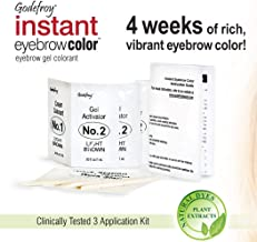 Godefroy Instant Eyebrow Color, Light Brown, .18 ounces, 12-weeks of long lasting brow color, 3-applications per kit