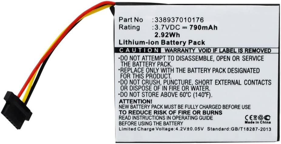 MPF Products 790mAh 338937010176 Compatible Replacement Battery Max 53% OFF Classic