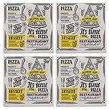 Papierservietten Servietten-Set 3-lagig Größe 33 x 33 cm (4 Pckg. It's Time for Pizza)