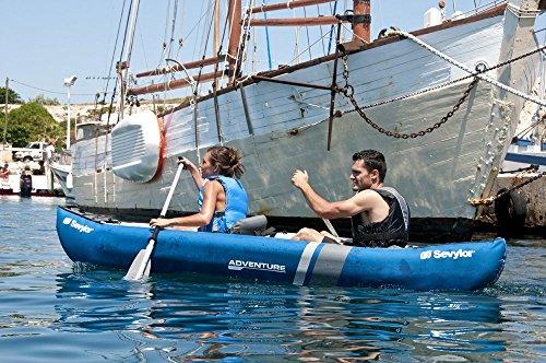 Sevylor Unisex Adventure Plus 2-3 Man Canadian Canoe Inflatable Sea Kayak