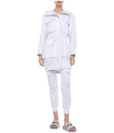 KAMALIKULTURE by Norma Kamali Cargo Jog Pants (White Foil) Women