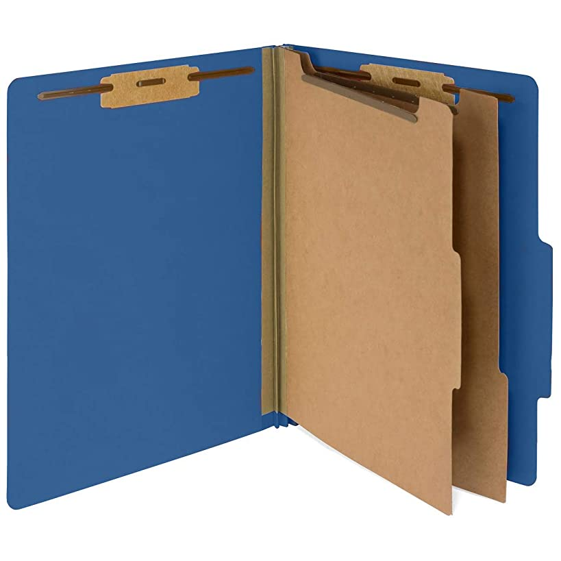 10 Dark Blue Classification Folders- 2 Divider-2'' Tyvek expansions- Durable 2 Prongs Designed to Organize Standard Medical Files, Law Client Files– Letter Size, Dark Blue, 10 Pack (-326)