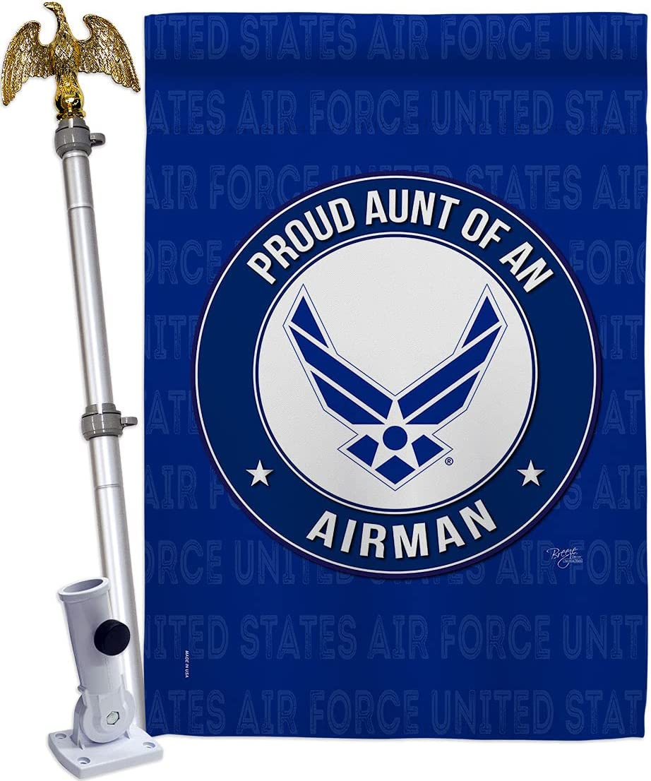 Breeze Decor Proud sold Max 57% OFF out Aunt Airman House Eagle Armed Flag Fo Air Set