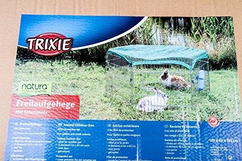 Trixie Natura Outdoor Run con Rete, 63× 60cm, 6Elementi