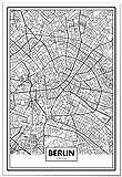 Panorama Poster Karte von Berlin 50x70 cm - Gedruckt auf