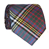 Anderson Modern Wool Plaid Neck Tie Made in Scotland