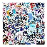 CHUDU Renacimiento Otro Mundo se Convierte en Limo Anime Graffiti Pegatina monopatín Ordenador portátil decoración Pegatina Venta al por Mayor 50 Uds
