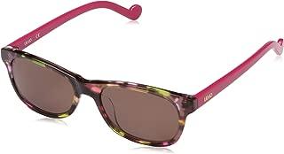Liu Jo Rectangular LJ3601S Brown Marble Sunglasses for Girls 48-16-130mm