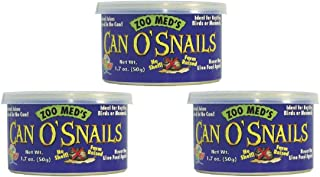 Zoo Med Can O' Shell-Less Snails, 1.2 Ounces, Reptile Fish and Small Animal Food