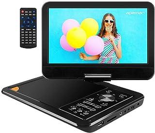 """APEMAN 11,5 '' Lecteur DVD Portable avec écran Pivotant 9,5"""" Batterie.."""