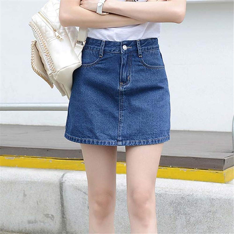 JiYaBen デニムスカート ミニスカート レディース デニム 台形 Aライン 大人