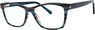 Computer Reading Glasses with 90% Blue Light Filtering Lenses, Acetate Frame Bluelight Blocking Eyeglasses for Men and Women, Prevent Eye Strain and Migraine Headaches(Teal)