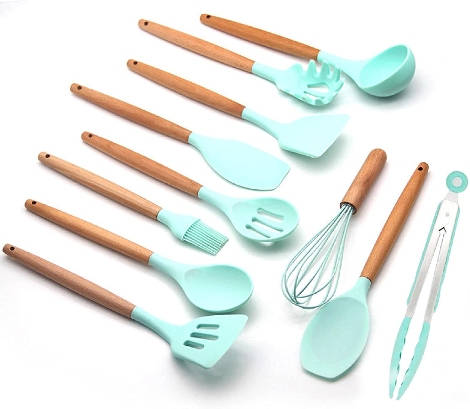 Mr. Peng 70% OFF Outlet Wooden Handle Piece kitchenware 12 mart Silicone