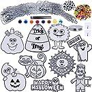 27 Sets Halloween Suncatchers Ornaments Decorations DIY Window Paint Art Stickers Craft Kit Pumpkin Monster Spider Sun Catchers for Kids Classroom Halloween Party Art Project Trick or Treat Gift