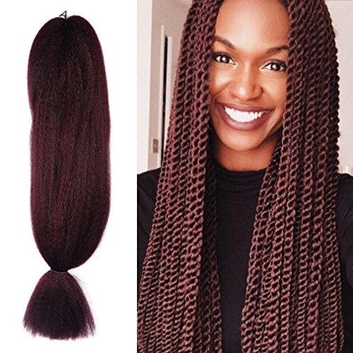 48 inch Braiding Hair kanekalon Crochet Braids Synthetic Hair Extensions x-pression Jumbo Braid Hair 57G (48 inch, 99J)