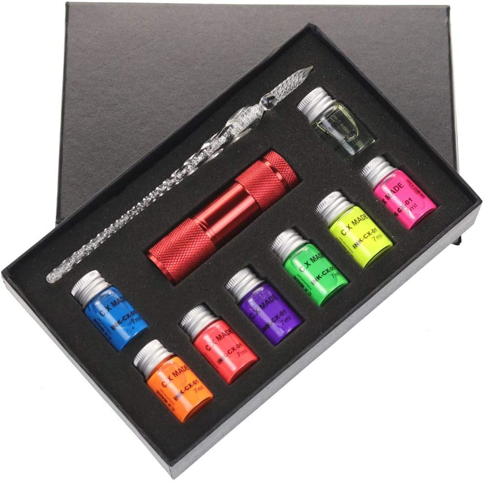 Misright famous Writing Virginia Beach Mall Ink Quill Pens Invisible Set Fluores 10Pcs