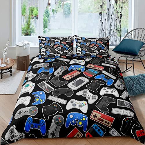 Juego de ropa de cama Teens Games, 135 x 200 cm, botones de acción para niños, niños, niñas,...