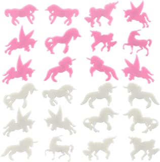 Naler 24pcs Unicorn Glow in Dark Stickers Night Glowing Wall Ceiling Decals for Nursery Kids Bedroom Decoration DIY Art Craft