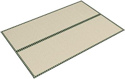 萩原 い草 上敷き カーペット グリーン 36間3畳 引目織(綿々ダブル) たて糸2倍 丈夫 「雅」 159012830