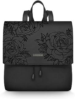 1e9323d28dad90 Alviero Rodriguez Donna Zainetto Lux Roses Black Rose Nere Fiori in Ecopelle